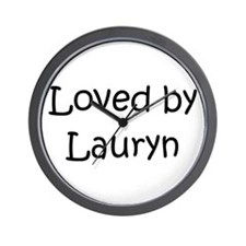 Cute Love lauryn Wall Clock