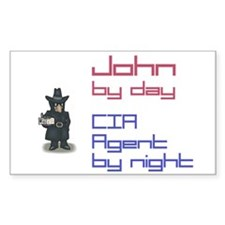 John - CIA Agent by Night Rectangle Decal
