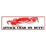 Attack Crab Bumper Sticker