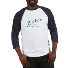 gluten is the enemy Baseball Jersey