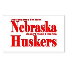 Nebraska Huskers Rectangle Decal