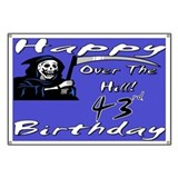43rd birthday party Banner