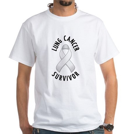 Lung Cancer Survivor White T-Shirt
