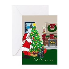 Deck The Halls Scottie Greeting Card