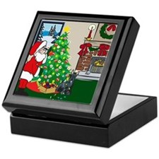 Deck The Halls Scottie Keepsake Box