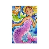 MERMAID &amp;amp; CATFISH No.3...Refrigerator Magnet