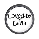 Unique Layla Wall Clock