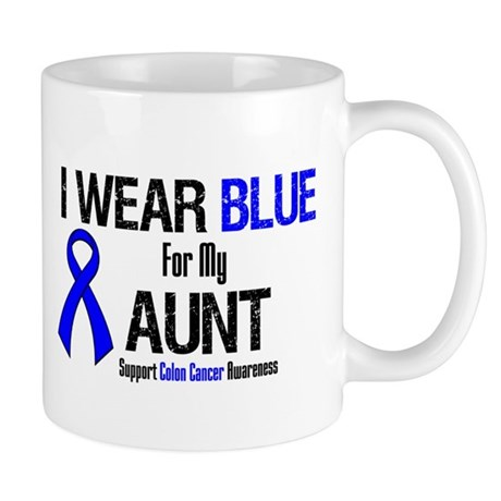 I Wear Blue For My Aunt Mug