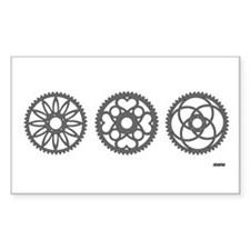 Three Chainrings rhp3 Rectangle Sticker 10 pk)