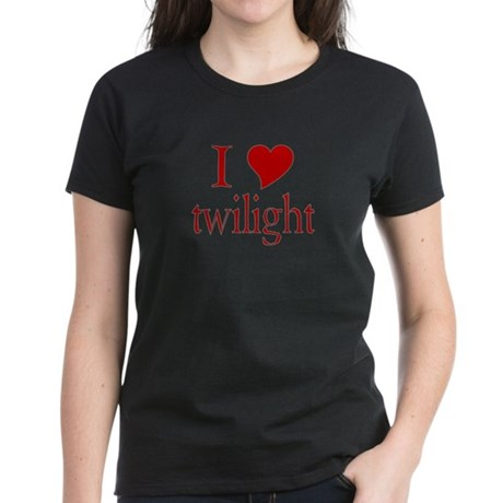 I love (heart) twilight Women's Dark T-Shirt
