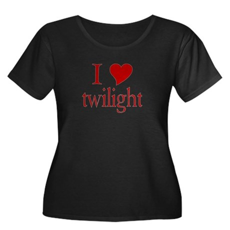 I love (heart) twilight Women's Plus Size Scoop Ne