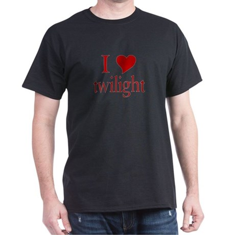 I love (heart) twilight Dark T-Shirt