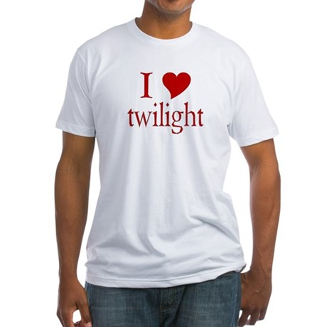 I love (heart) twilight Fitted T-Shirt