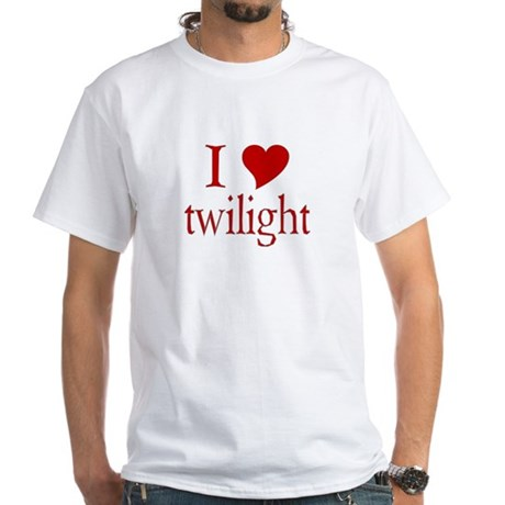 I love (heart) twilight White T-Shirt