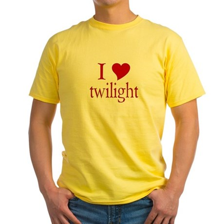 I love (heart) twilight Yellow T-Shirt