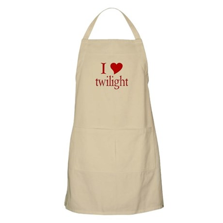 I love (heart) twilight BBQ Apron