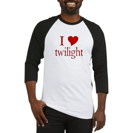 I love (heart) twilight Baseball Jersey