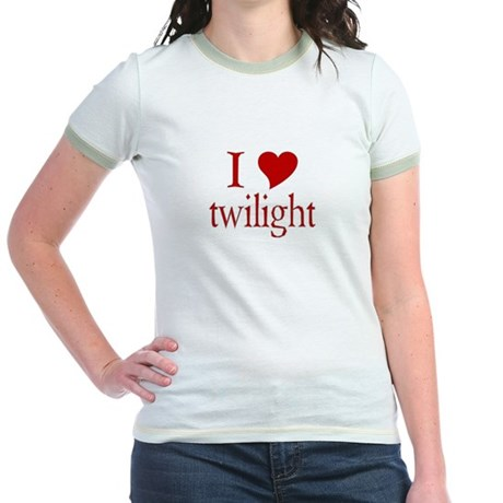 I love (heart) twilight Jr. Ringer T-Shirt