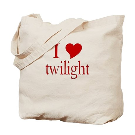 I love (heart) twilight Tote Bag