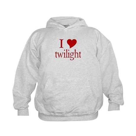I love (heart) twilight Kids Hoodie