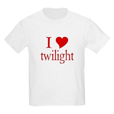 I love (heart) twilight Kids Light T-Shirt