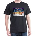 XmasSunrise/2 Vizslas Dark T-Shirt