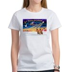 XmasSunrise/2 Vizslas Women's T-Shirt