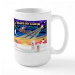 XmasSunrise/2 Westies Large Mug