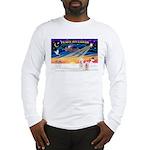 XmasSunrise/2 Westies Long Sleeve T-Shirt