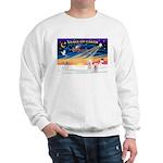 XmasSunrise/2 Westies Sweatshirt