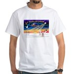 XmasSunrise/2 Westies White T-Shirt