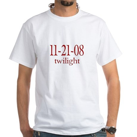 Dated Twilight Movie White T-Shirt