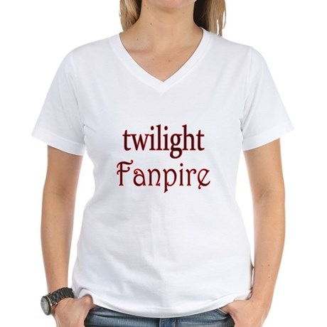 Twilight Fanpire Women's V-Neck T-Shirt