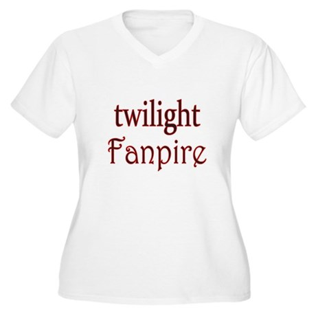 Twilight Fanpire Women's Plus Size V-Neck T-Shirt