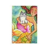 MERMAID & CATFISH No.4...Refrigerator Magnet