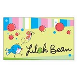 Lilah Bean Rectangle Sticker 10 pk)