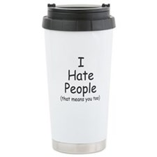 I Hate People - Ceramic Travel Mug
