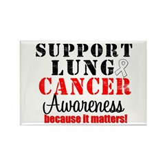 Lung Cancer Awareness Matters Rectangle Magnet (10