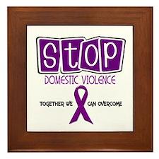 Stop Domestic Violence 1 Framed Tile