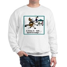 Spook at X Dressage Horse Sweatshirt