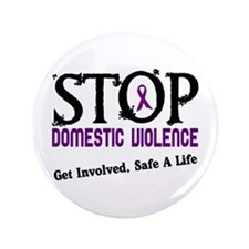 "Stop Domestic Violence 2 3.5"" Button"