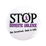 "Stop Domestic Violence 2 3.5"" Button (100 pack)"