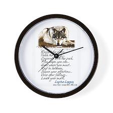 Cute Lupine Wall Clock