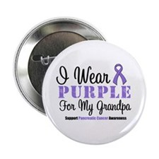 "I Wear Purple (Grandpa) 2.25"" Button (10 pack)"