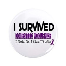 "Domestic Violence Survivor 2 3.5"" Button"