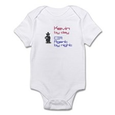 Kevin - CIA Agent by Night Infant Bodysuit