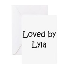 Unique Lyla Greeting Card