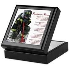 Firefighter Prayer Keepsake Box