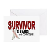 Lung Cancer Survivor 8 Years 1 Greeting Card