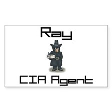 Ray - CIA Agent Rectangle Decal